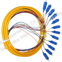 SC/UPC SM Fiber optic pigtail 12cores