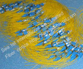 SC/PC Single mode Fiber Optic pigtail 0.9 1.5m