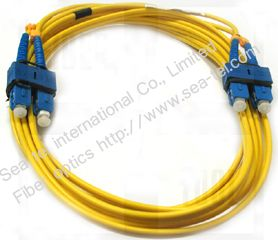 SC/PC Single mode Duplex  Fiber Optic Patch cord