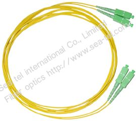 SC/APC  Single mode Simplex Fiber Optic Patch cord