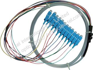 SC/PC Fiber Optic pigtail cable 12 Colours