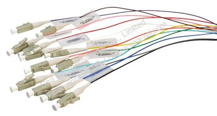 LC/PC MM OM1 Fiber Optic Pigtail 12 colours