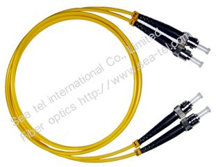 ST/PC Single mode Duplex Fiber Optic Patch cord