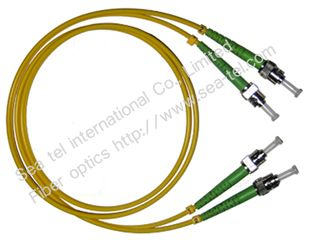 ST/APC Single mode Duplex Fiber Optic Patch cord